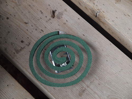 Mosquito repellent spiral (source JIP via wikimedia commons)