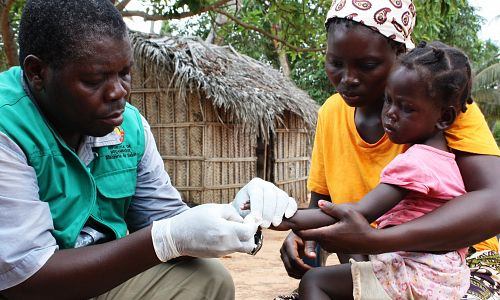 £25 could pay for 30 malaria diagnostic kits for health workers
