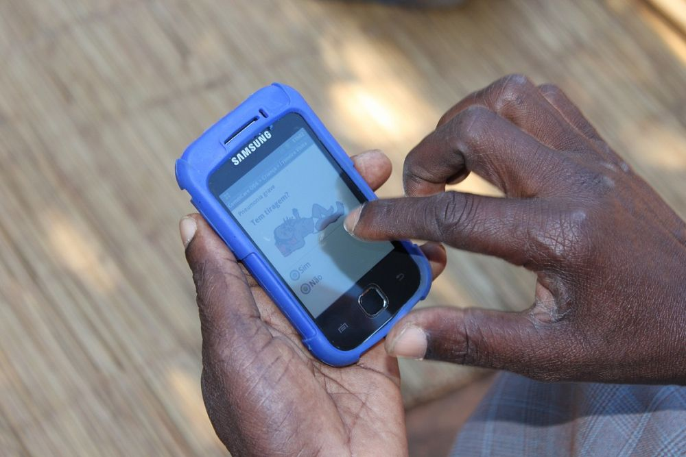 Our mobile phone application helps community health workers to provide important services in Uganda and Mozambique
