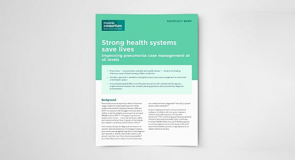Photo for: Strong health systems save lives: Improving pneumonia case management at all levels