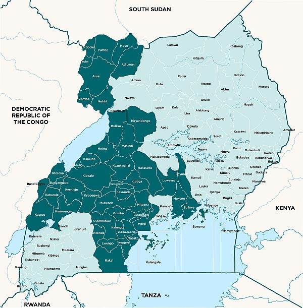 Map for Malaria Action Program for Districts