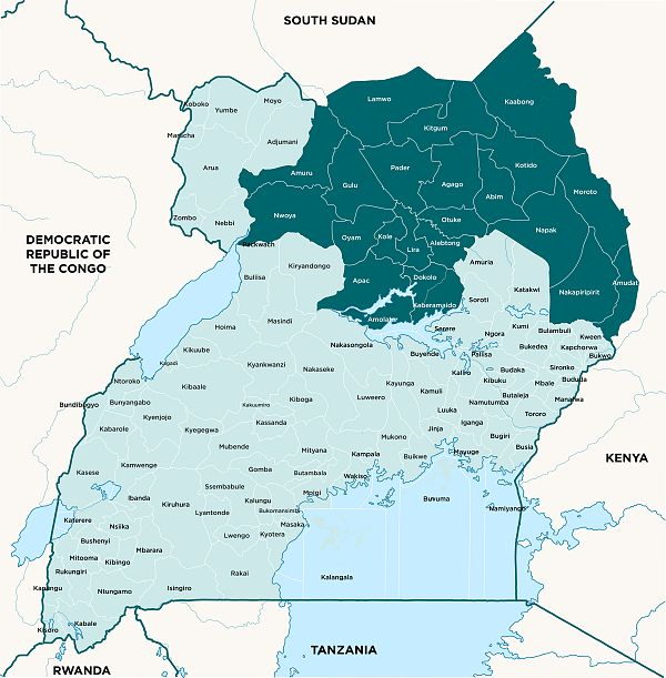 Map for Strengthening Uganda's response to malaria