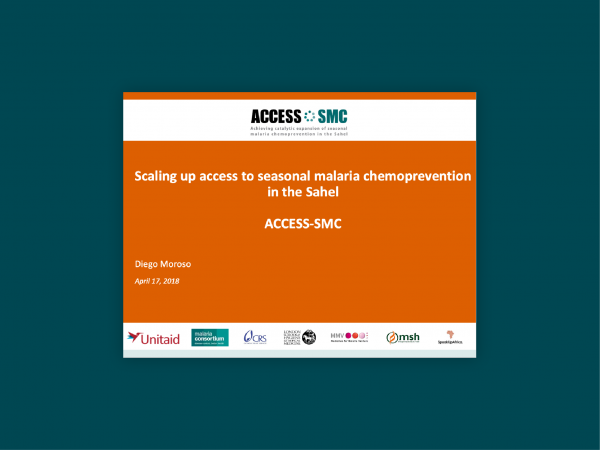 Photo for: Scaling up access to seasonal malaria chemoprevention in the Sahel