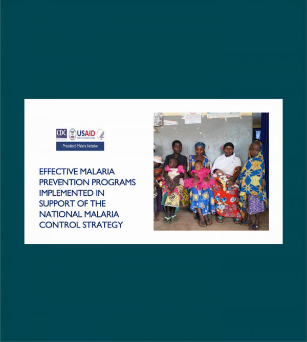 Photo for: Effective malaria prevention programs implemented in support of the national malaria control strategy