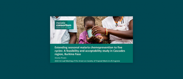 Photo for: Extending seasonal malaria chemoprevention to five cycles: A feasibility and acceptability study in Cascades region, Burkina Faso