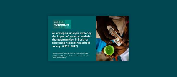 Photo for: An ecological analysis exploring the impact of seasonal malaria chemoprevention in Burkina Faso using national household surveys (2010–2017)