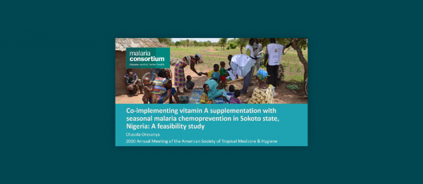 Photo for: Co-implementing vitamin A supplementation with seasonal malaria chemoprevention in Sokoto state, Nigeria: A feasibility study