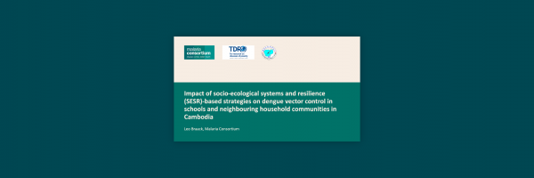 Photo for: Impact of socio-ecological systems and resilience (SESR)-based strategies on dengue vector control in schools and neighbouring household communities in Cambodia
