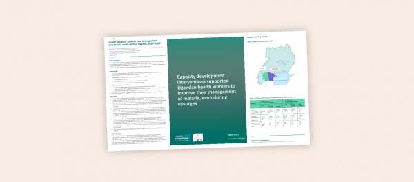 Photo for: Health workers' malaria case management practices in south-central Uganda, 2017–2019