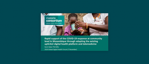 Photo for: Rapid support of the COVID-19 response at community level in Mozambique through adapting the existing upSCALE digital health platform and telemedicine