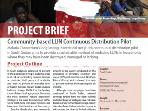 Photo for: South Sudan: Community-based LLIN Continuous Distribution Pilot