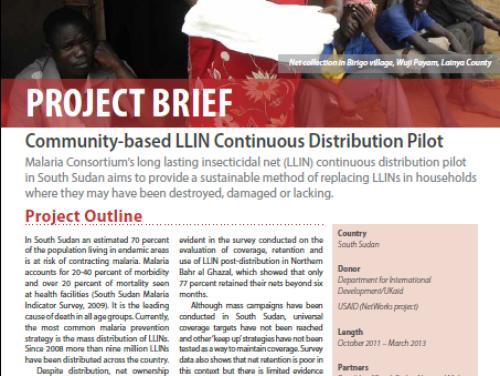 Photo for: South Sudan: Community-based LLIN Continuous Distribution Pilot