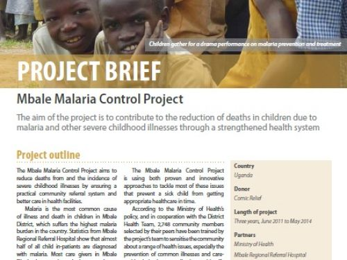 Photo for: Mbale Malaria Control Project