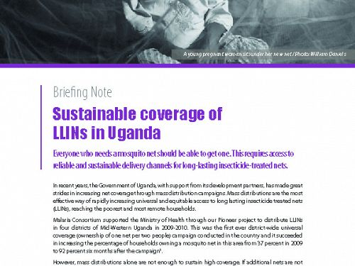 Photo for: Sustainable coverage of LLINs in Uganda