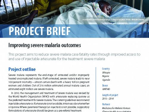 Photo for: Improving severe malaria outcomes