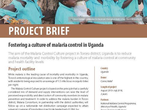 Photo for: Fostering a culture of malaria control in Uganda