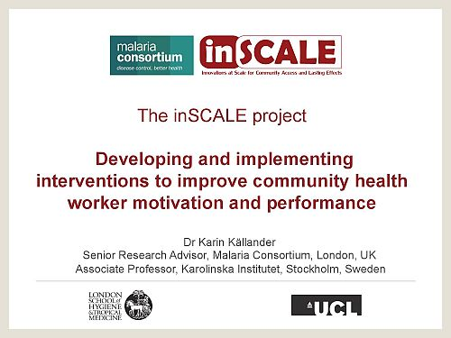 Photo for: Developing and implementing interventions to improve community health worker motivation and performance