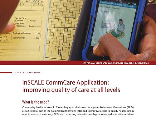 Photo for: inSCALE CommCare Application: improving quality of care at all levels