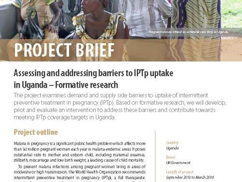 Photo for: Assessing and addressing barriers to IPTp uptake in Uganda - Formative research