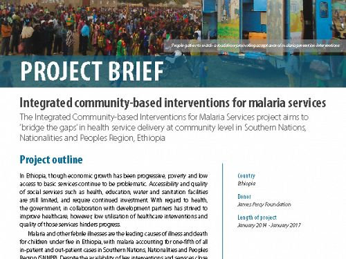 Photo for: Integrated community-based interventions for malaria services