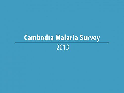 Photo for: Cambodia Malaria Survey 2013