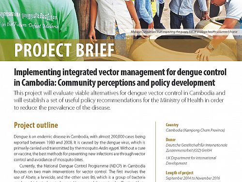 Photo for: Implementing integrated vector management for dengue control in Cambodia: Community perceptions and policy development