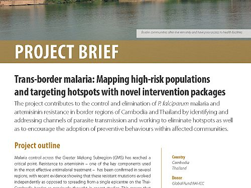 Photo for: Trans-border malaria: Mapping high-risk populations and targeting hotspots with novel intervention packages