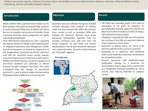 Photo for: Community level understanding of the concept of pre-referral treatment and impact on referral-related decision-making following provision of rectal artesunate. A qualitative study in Western Uganda