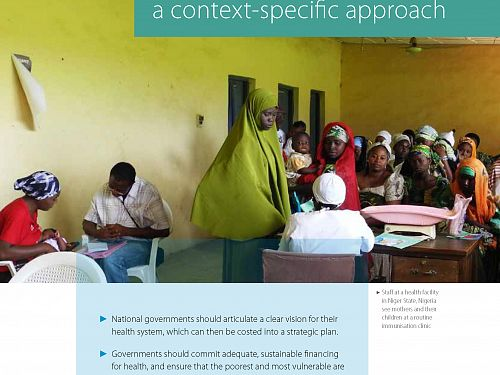Photo for: Health system strengthening: A context-specific approach
