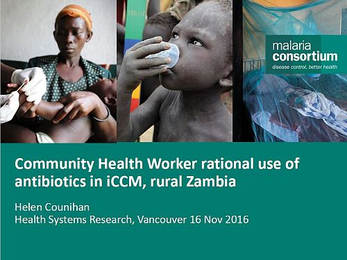 Photo for: Community Health Worker rational use of antibiotics in iCCM, rural Zambia
