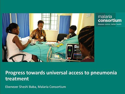 Photo for: Progress towards universal access to pneumonia treatment