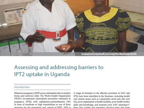 Photo for: Assessing and addressing barriers to the uptake of intermittent preventive treatment in pregnancy in Uganda