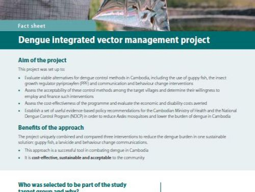 Photo for: Dengue integrated vector management project