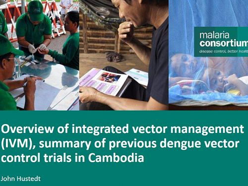 Photo for: Overview of integrated dengue vector management trials in Cambodia