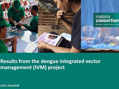 Photo for: Results from the dengue integrated vector management project