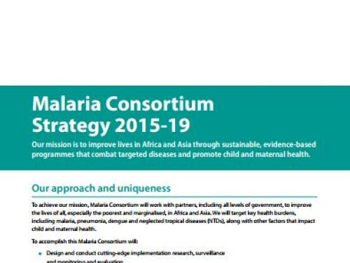 Photo for: Malaria Consortium strategy 2015–2019