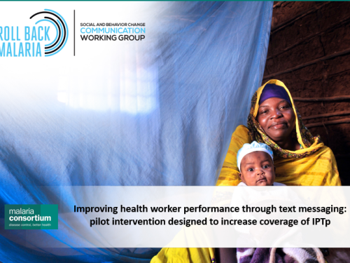 Photo for: Improving health worker performance through text messaging: Pilot intervention designed to increase coverage of IPTp