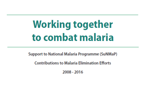 Photo for: Working together to combat malaria: Support to National Malaria Programme (SuNMaP) Contributions to Malaria Elimination Efforts 2008 - 2016