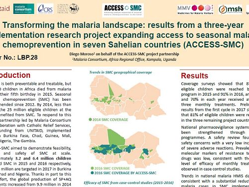 Photo for: Transforming the malaria landscape: Results from a three-year implementation research project expanding access to seasonal malaria chemoprevention in seven Sahelian countries
