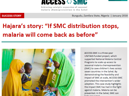 "Photo for: Hajara's story: ""If SMC distribution stops, malaria will come back as before."""