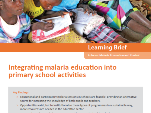 Photo for: Integrating malaria education into primary school activities