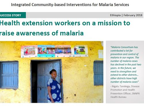 Photo for: Health extension workers on a mission to raise awareness of malaria