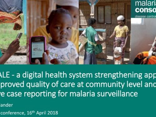 Photo for: upSCALE: A digital health system strengthening approach for improved quality of care at community level and for passive case reporting for malaria surveillance