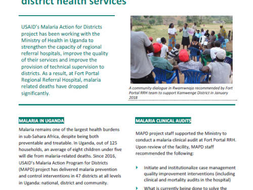 Photo for: Strengthening regional referral hospitals to provide evidence‐based technical support to district health services