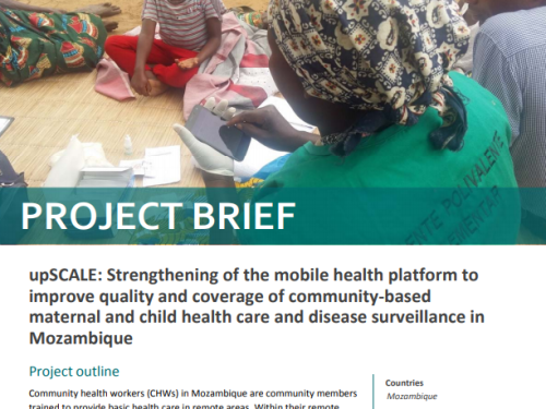 Photo for: upSCALE: Strengthening of the mobile health platform to improve quality and coverage of community-based maternal and child health care and disease surveillance in Mozambique