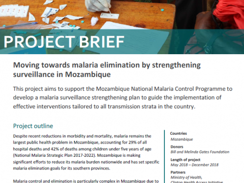Photo for: Moving towards malaria elimination by strengthening surveillance in Mozambique