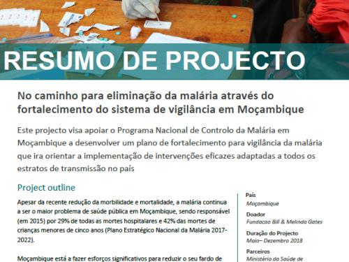 Photo for: No caminho para eliminação da malária através do fortalecimento do sistema de vigilância em Moçambique