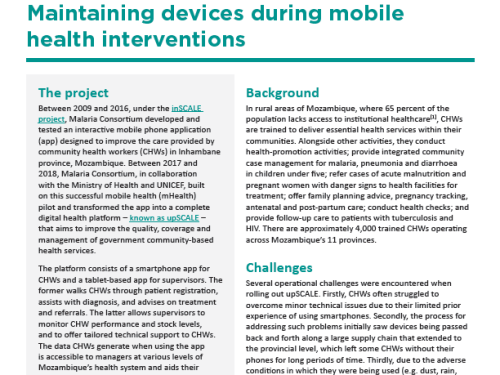 Photo for: Maintaining devices during mobile health interventions