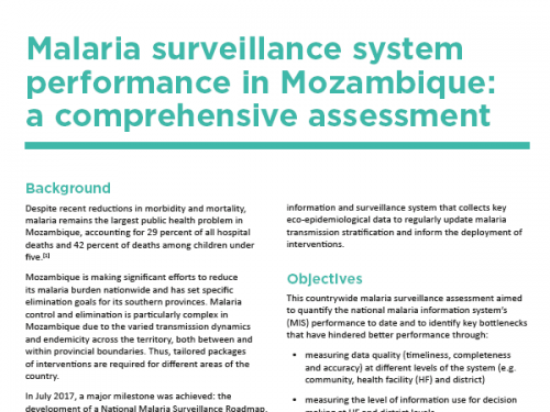 Photo for: Malaria surveillance system performance in Mozambique: A comprehensive assessment
