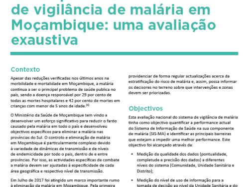 Photo for: Desempenho do sistema de vigilância de malária em Moçambique: uma avaliação exaustiva